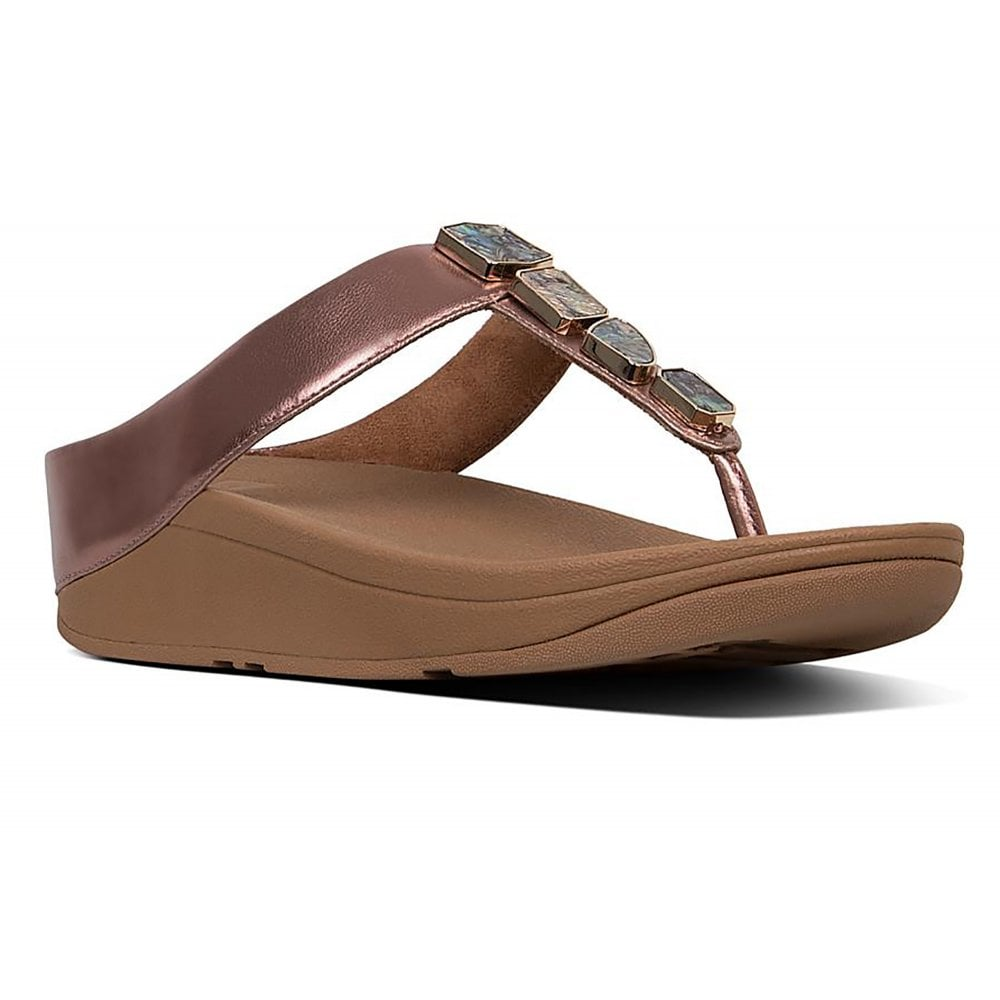 55e294221bc Fitflop Fino Shellstone Toe post Sandal - Womens from Westwoods ...