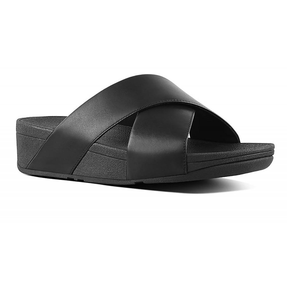 23622e3d5 Fitflop Lulu Cross Slide Leather Sandals - Womens from Westwoods ...
