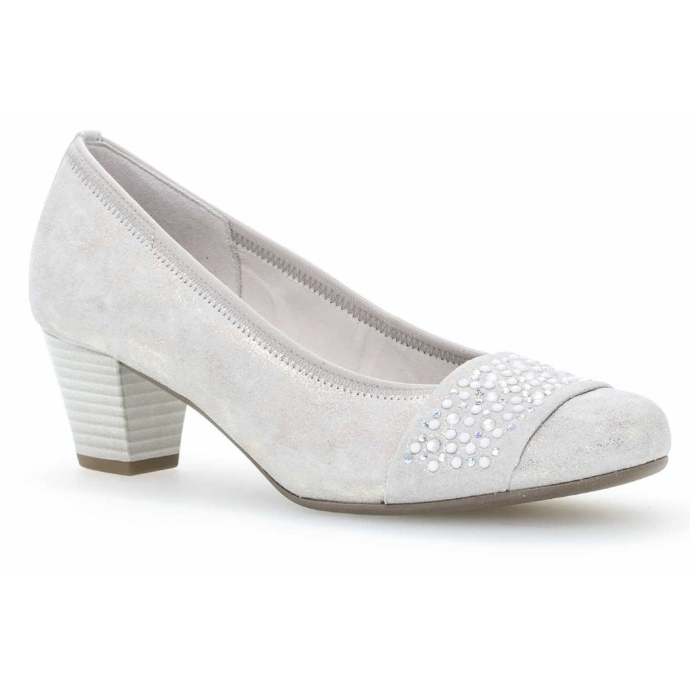 Gabor Wallace Mid Heel Court Shoe Womens From Westwoods