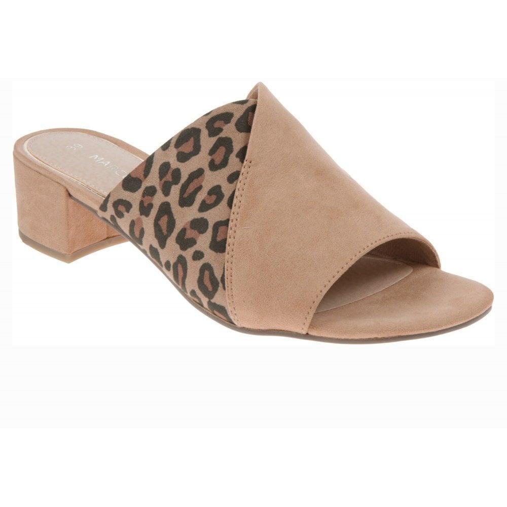Marco Tozzi Leopard Print Mule Sandal