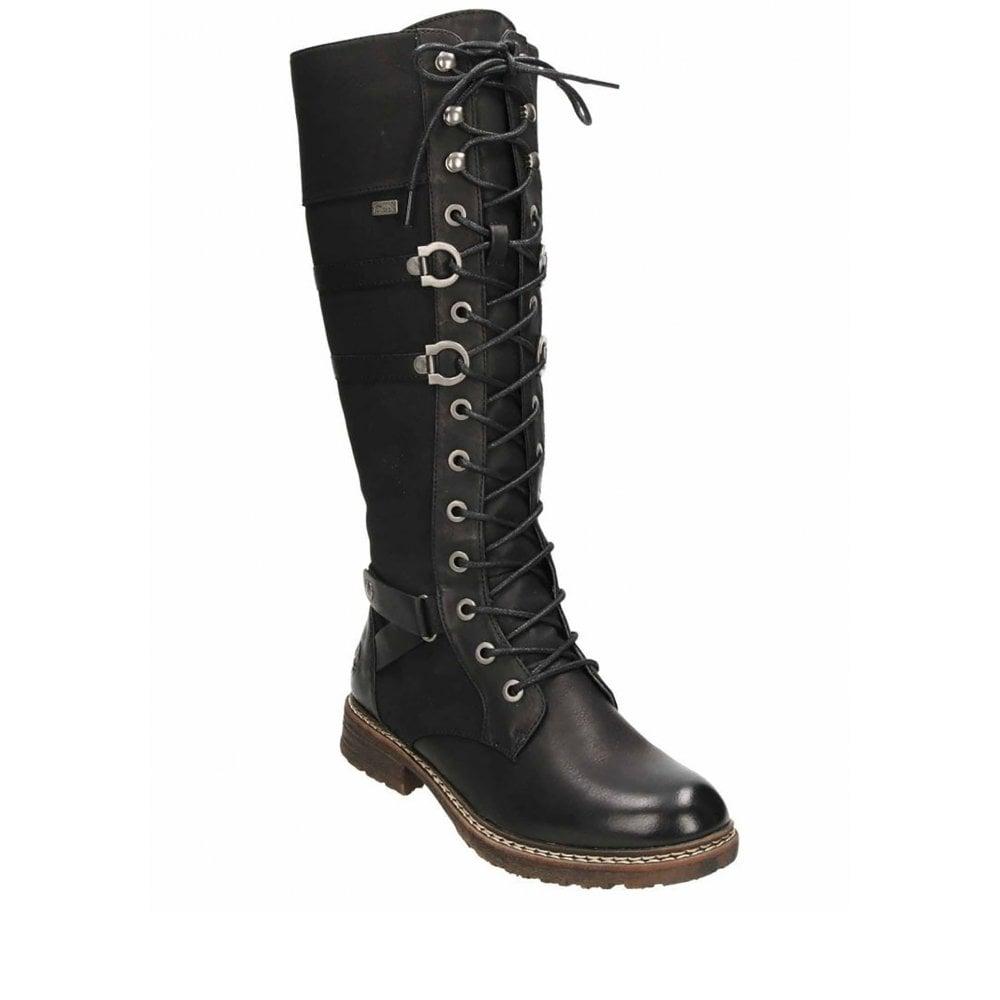 Rieker 94732 Long Lace Up/Zip Boot