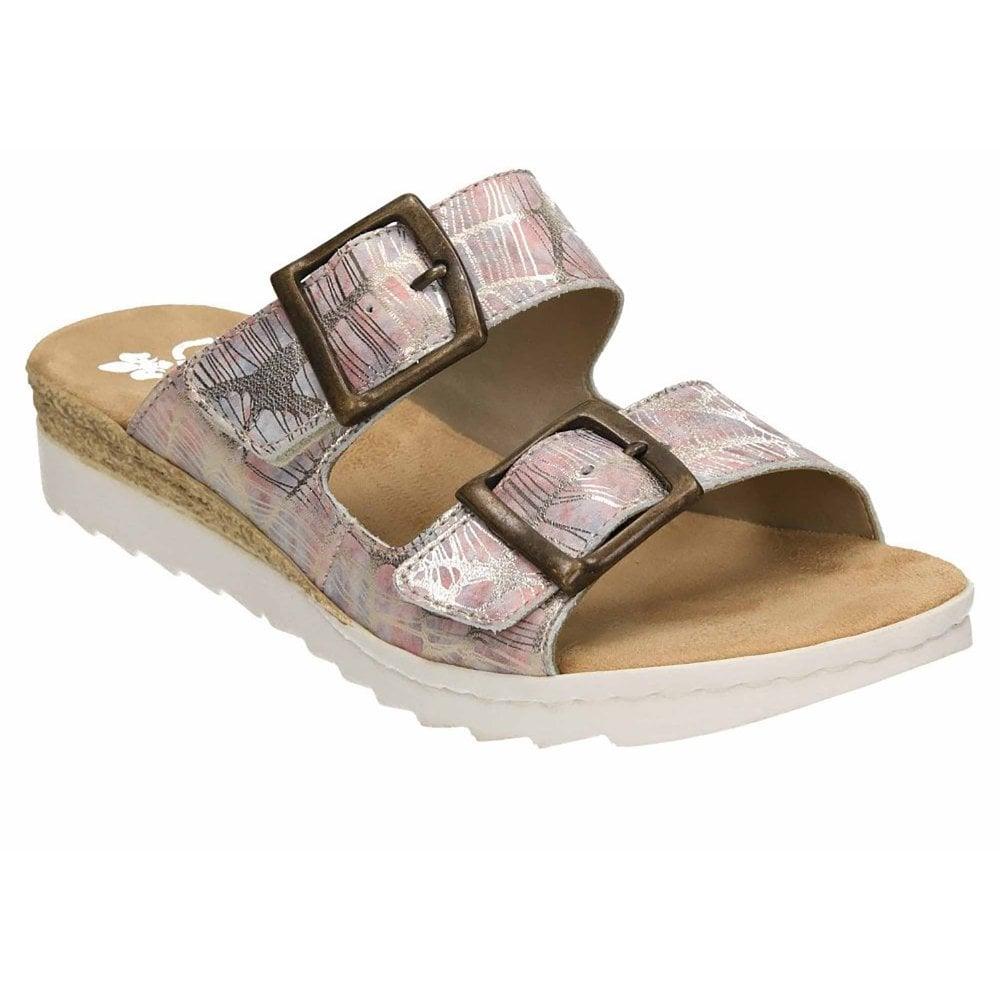e5e440cc99 Rieker Metallic Slip On Sandal - Womens from Westwoods Footwear UK