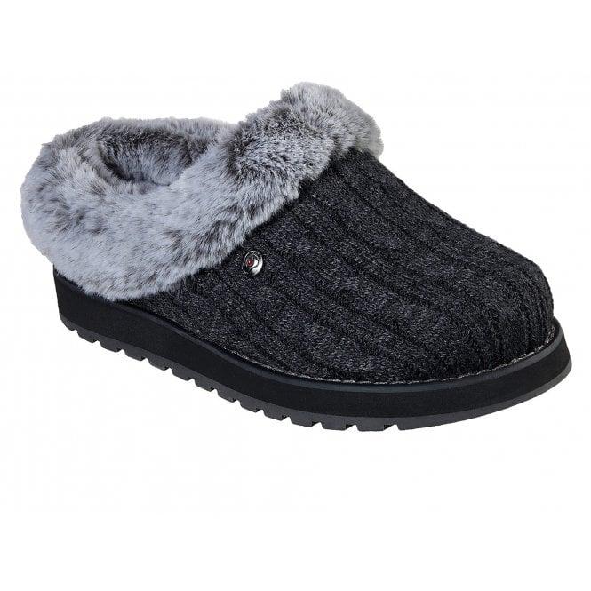 Skechers Bobs Keep Sakes Ice Angel Mule Slippers Womens